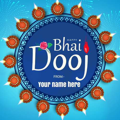 Happy Bhai Dooj Wishes Whatsapp Status Image With Name