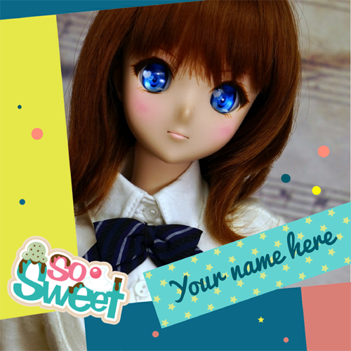 Beautiful and Charming Sweet Doll Greeting With Name