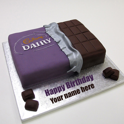 Cadbury Dairy Milk Chocolate Cake With Your Name
