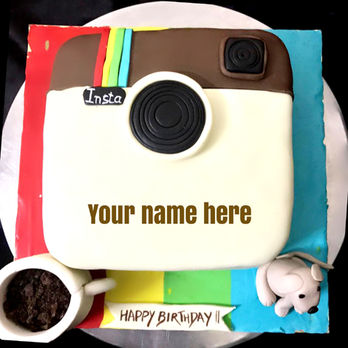 Make Your Personalized Name Birthday Wishes Cake Online