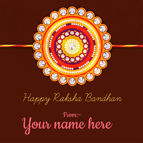 Write Name on Happy Raksha Bandhan Whatsapp Status Pics