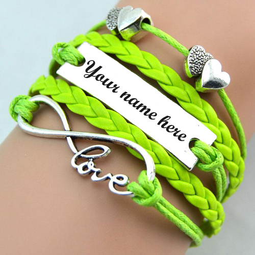 Write Your Name On Beautiful Love Hand Belt For Girls