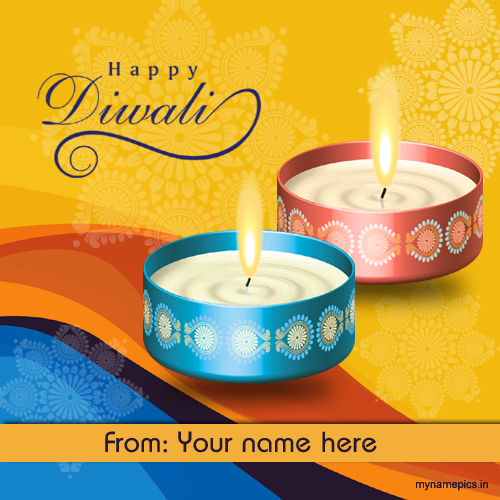 Write your name on Happy Diwali Wish profile pic