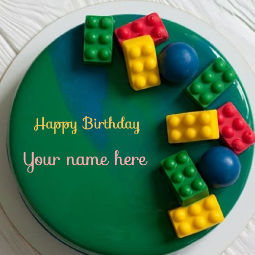 Beautiful Kids Puzzle Cake With Name