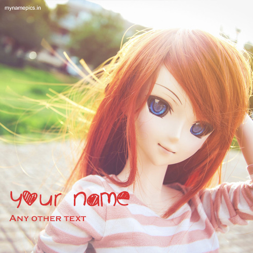 Write name on cute doll profile pics online