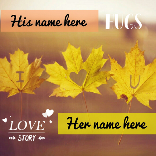 I Love You Couple Romantic Greeting With Custom Name