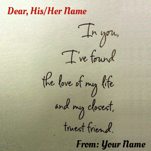 Create Cute Love Note Profile Pics With Couple Name