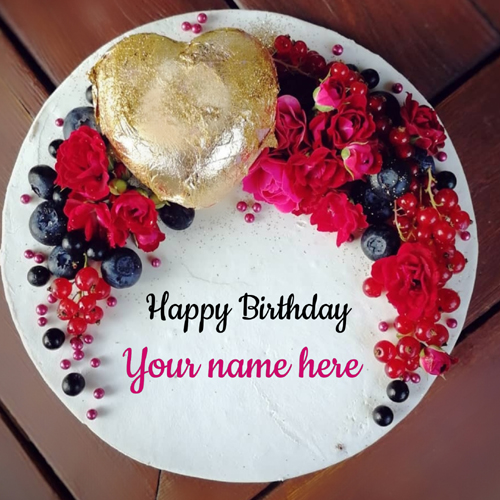 Wish You a Very Happy Birthday Elegant Cake With Name