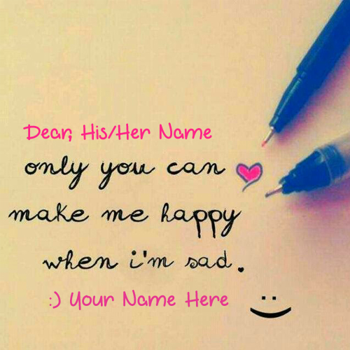 Create Your Love Note For Cute Girlfriend With Name