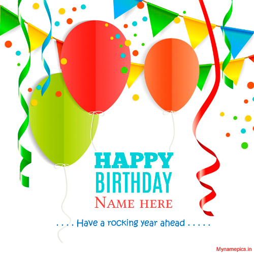 Write your name on lovely birthday wish profile pix