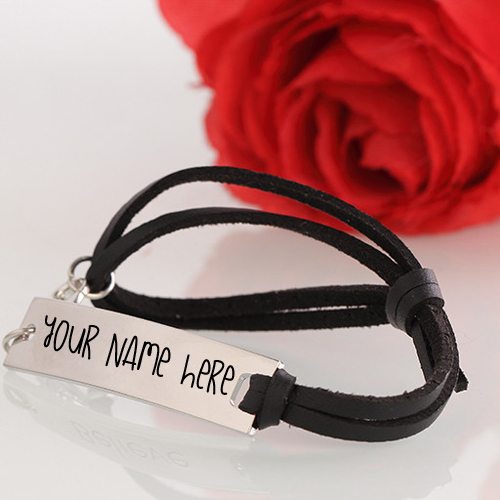 Write Name on Leather Strap Bracelet Profile Picture