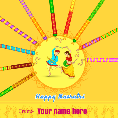 Write Name on Navratri Celebration Special Greeting