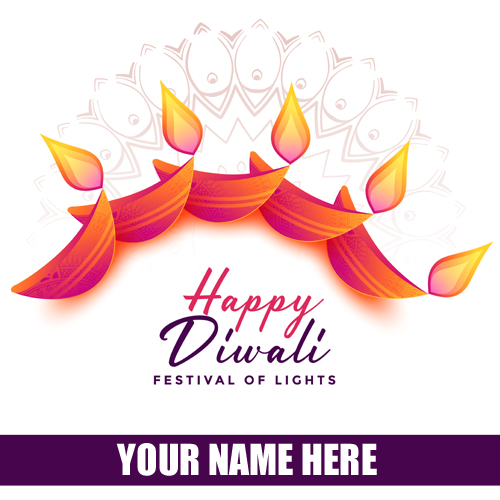 Diwali Festival Wishes Whatsapp Status With Your Name