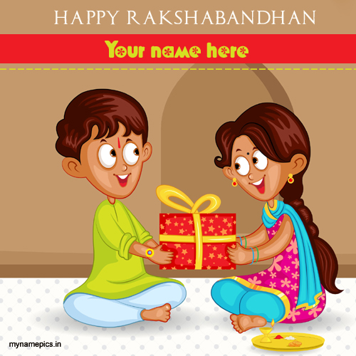 Write name on beautiful rakhi rakshabandhan profile pic