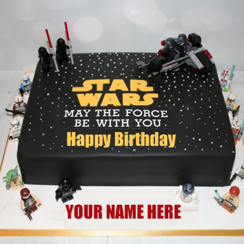Happy Birthday Star Wars Birthday Cake With Your Name