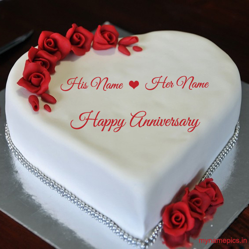 write your name on lovely wedding anniversary wish onli