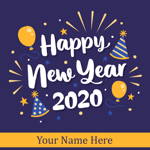 Welcome 2020 New Year Wishes Greeting With Name