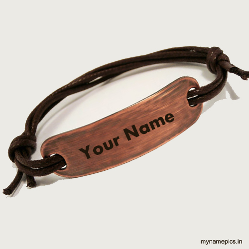 Write your name on copper personalized bracelet