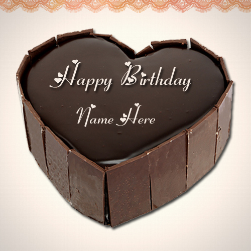 Print Your Name on Delicious Chocolate Cake For Friends