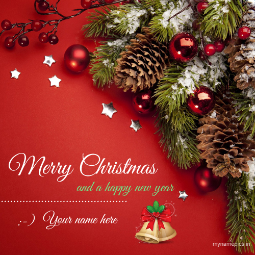 Merry Christmas Jingle Bells Greeting With Your Name