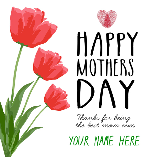 International Mothers Day Designer Greeting With Name