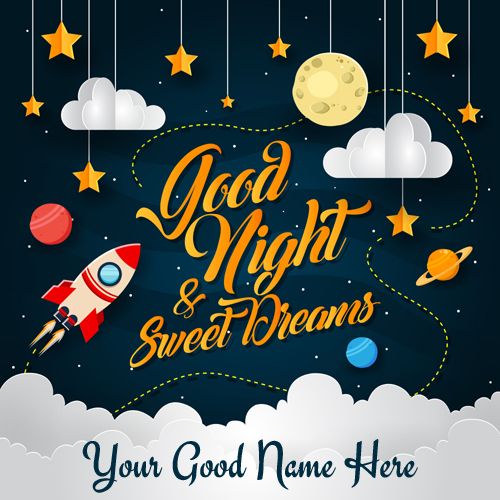 Good Night Sweet Dreams Whatsapp Status Image With Name