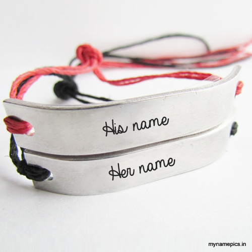 Write your name on Couple Bracelets profile picture