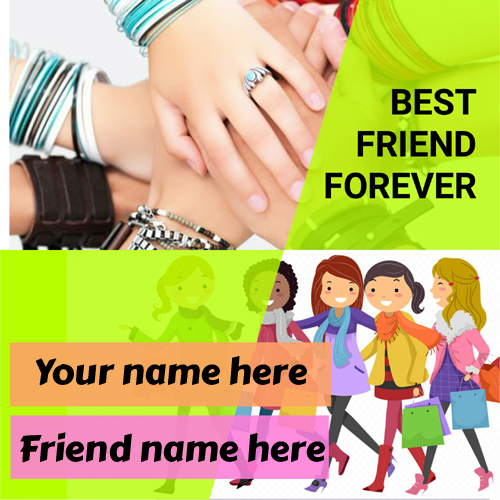 Write name best friend forever hand shake pics