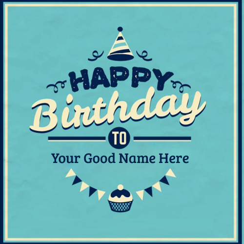 Beautiful Retro Birthday Wishes Card With Your Name
