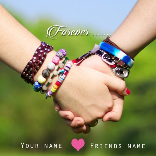 Write your name on true friendship profile picture