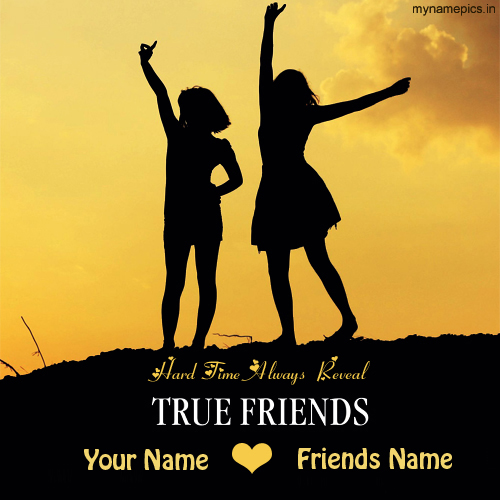 Write Your Name on True Friendship Greetings Online Fre
