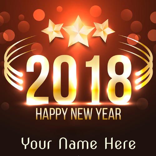 Welcome New Year 2018 Wishes Greeting With Your Name