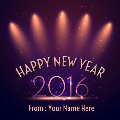 Happy New Year 2016 Party Picture With Your Name