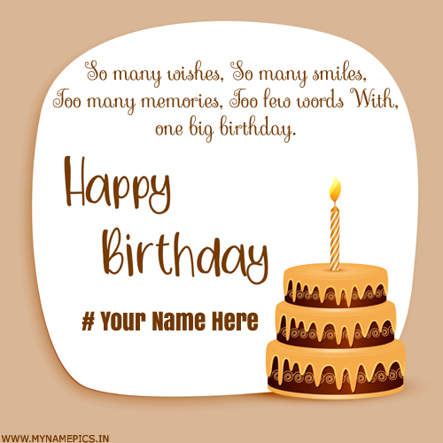 Happy Birthday To You My Friend Greeting Card With Name
