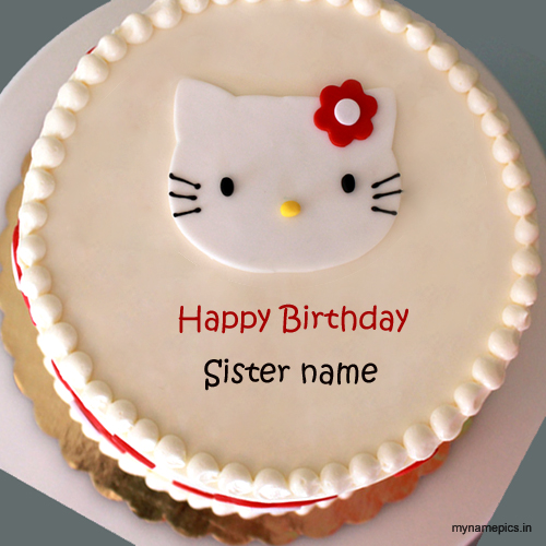 Write name on birthday cake for sister profile pix