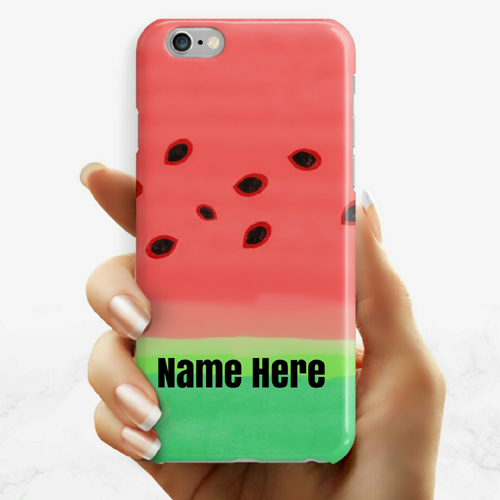 Designer Pink Mobile Case DP Picture With Your Name