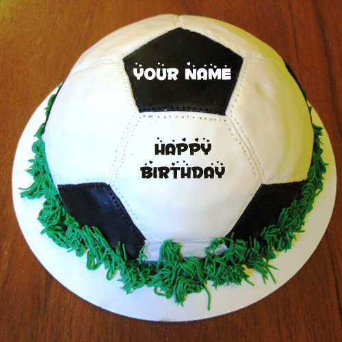 Birthday Cake Pic With Name Mahi : Happy Birthday Football Professional Cake With Your Nam