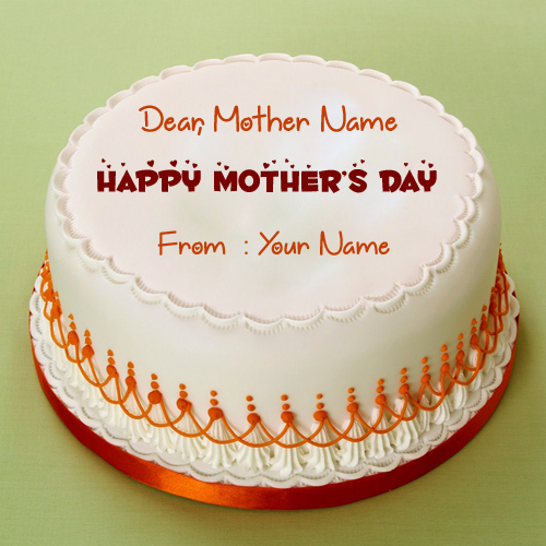 Happy Mothers Day Wish Cake With Your Name
