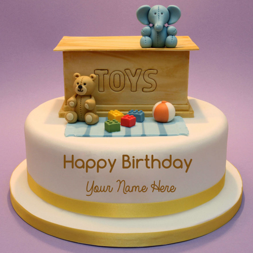 Happy Birthday Toybox Toppings Cake With Name