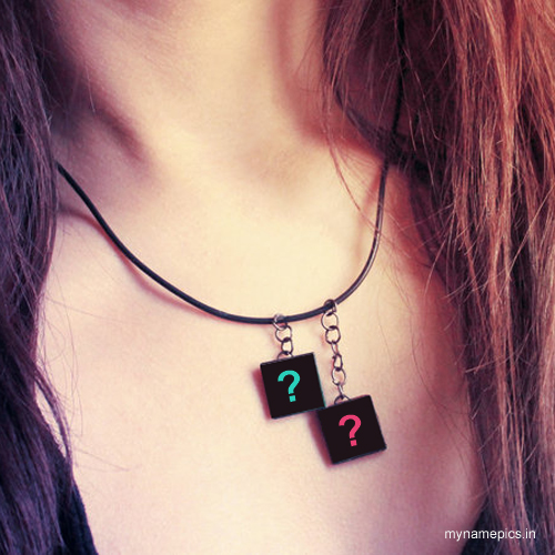 write alphabet on necklace profile pics