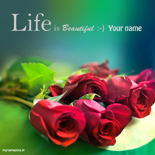 Write name on rose flower profile pic online