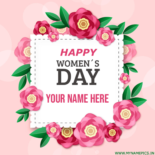 Happy International Womens Day Greeting With Your Name