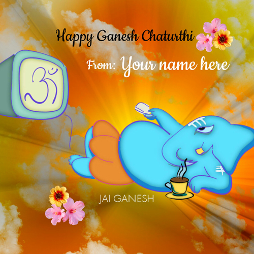 Ganpati Blessing Quotes: Write Name On Happy Ganesh Chaturthi Greetings And Photos