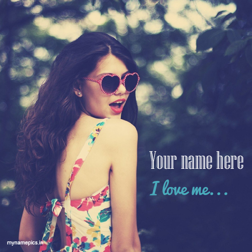 Write your name on Stylish Girl profile picture.