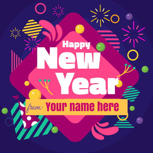 Happy New Year Wishes Elegant Whatsapp Status With Name