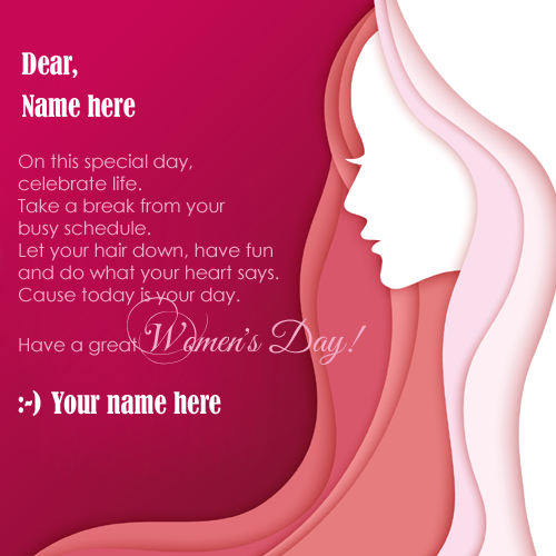Print name on international womens day pix