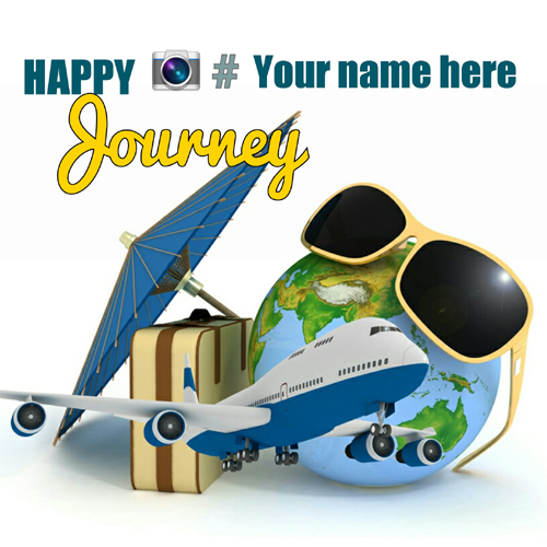 Happy Journey Wishes greeting card with name