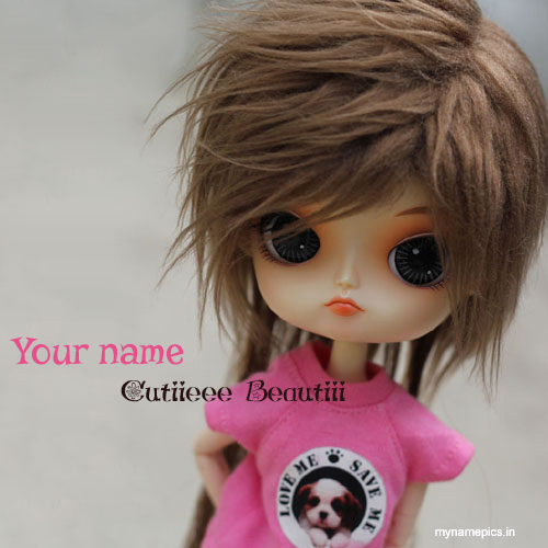 Write name on Cutie beauty doll profile pics