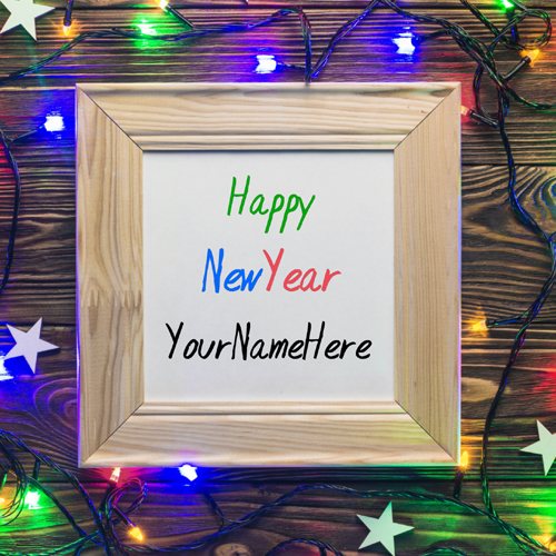 Happy New Year Whatsapp Status Image With Your Name