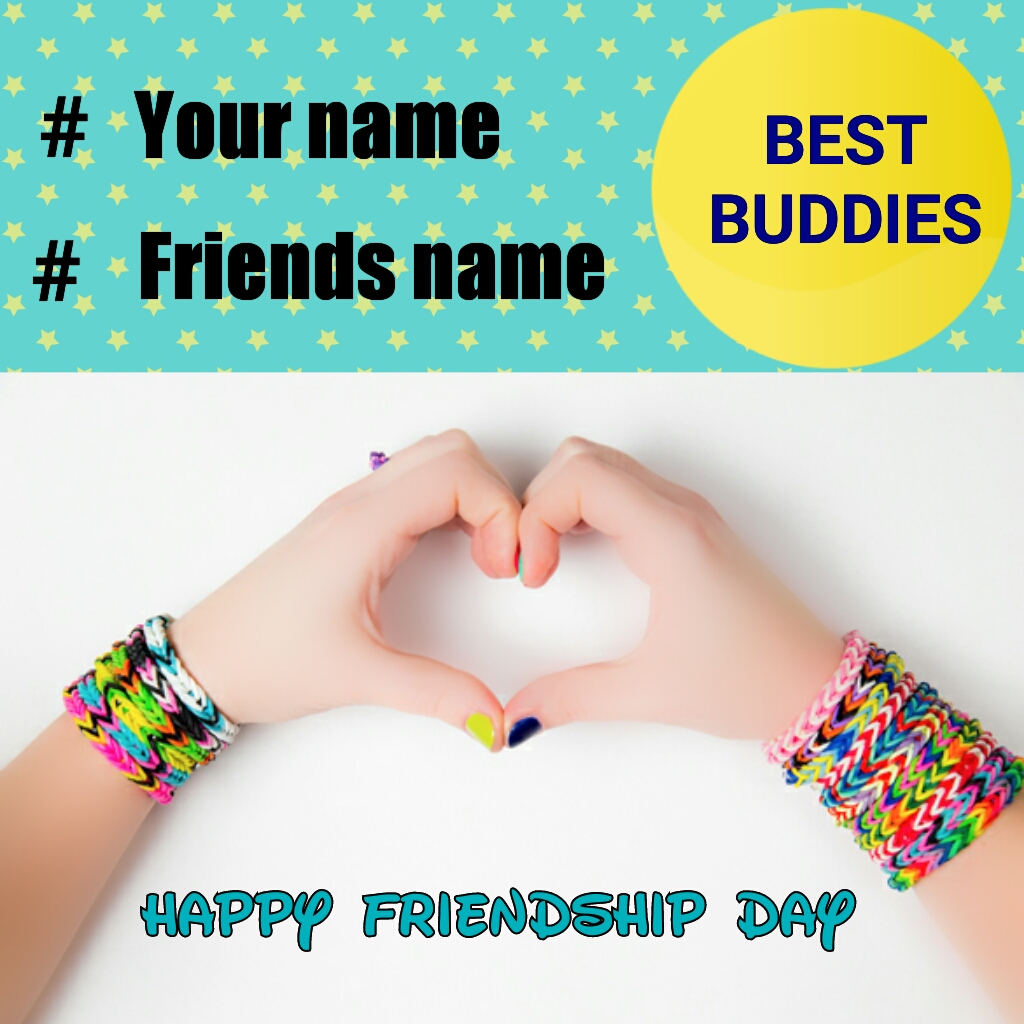 Best Buddies Friends Forever Heart Greeting With Name